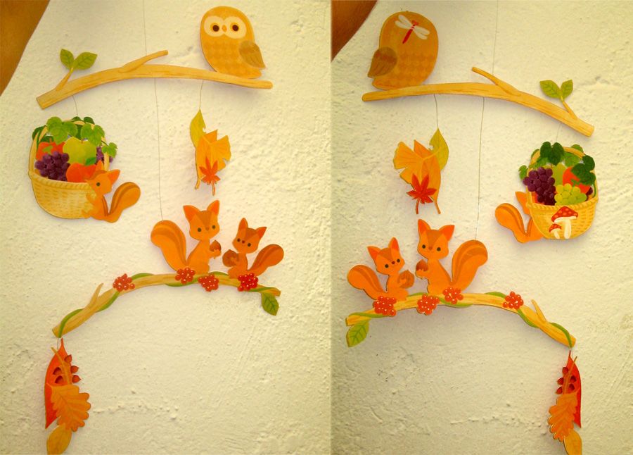 Animals Autumn Mobile Canon Papercraft by ValhallaAsgard