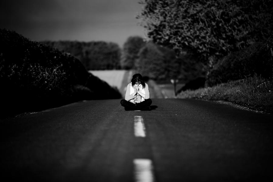 On the black and white road by escaped emotions