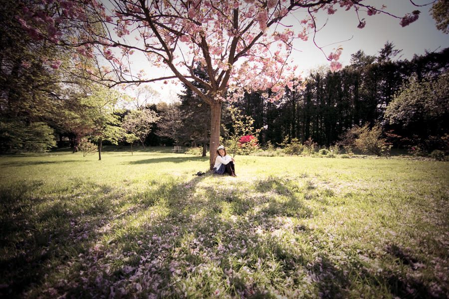 Resting Under The Blossom by escaped-emotions