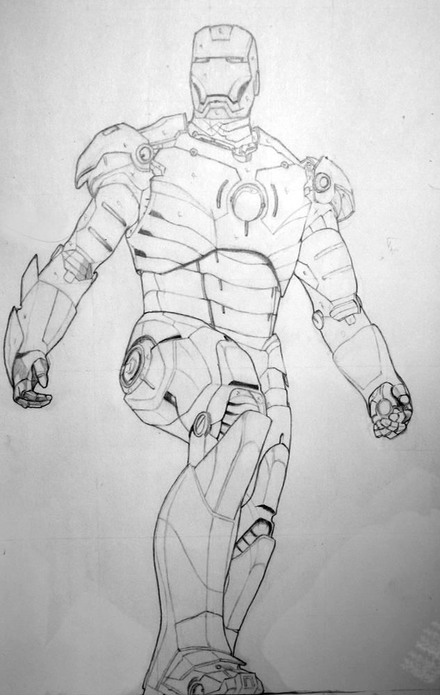 Iron Man - Pencil by Telsak on DeviantArt Iron Man Pencil Drawings