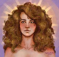 Hermione by upthehillart