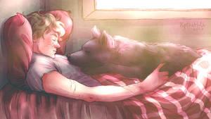 Wolfstar cuddles 3