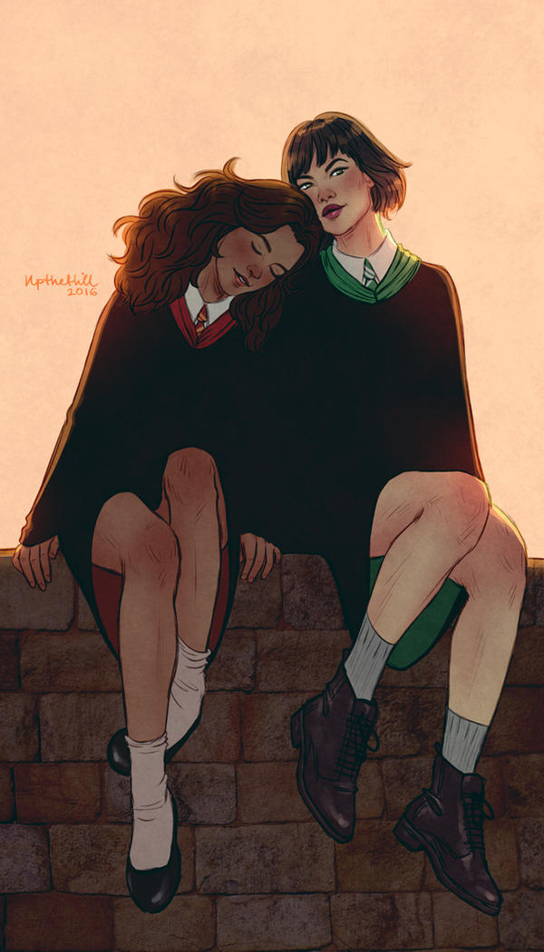 hermione and pansy by upthehillart on deviantart