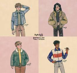 marauders in jackets by upthehillart