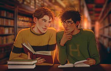 Study Buddies by upthehillart