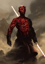 Darth Maul 2015 12 91 by daviechang24