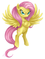 New Fluttershy by Mn27