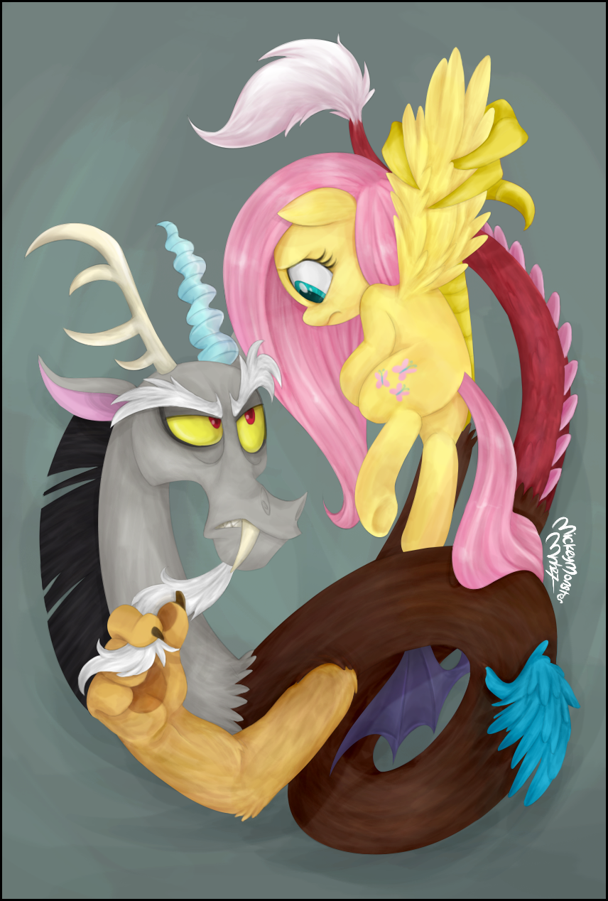 Flutters And Discord By Mickeymonster-colored- by Mn27