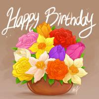 <b>Birthday Flowers</b><br><i>Mn27</i>