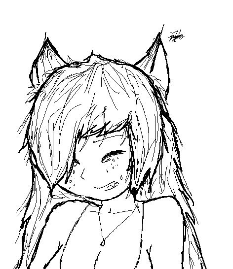 How to draw wolf ears - photo#14