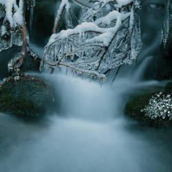 Litle winter waterfall by Floriandra