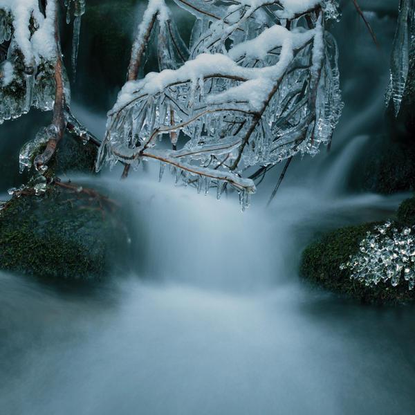 Litle winter waterfall