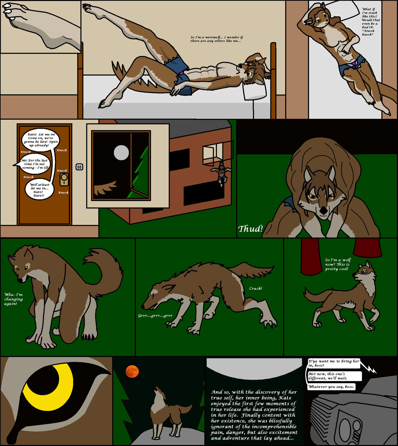 Naked female werewolf tf xxx comics
