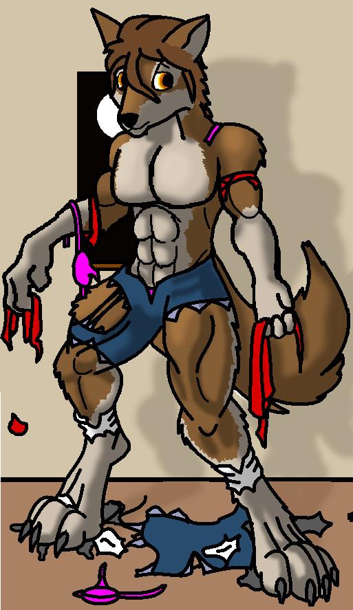 Werewolf Girl Redone by MightyWarlord
