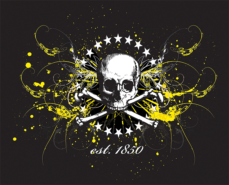 Painted Skull Graphic T Design by sl8t3r