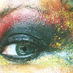 Abstraction Macro of a Fire Glossy Eye by Earthymoon
