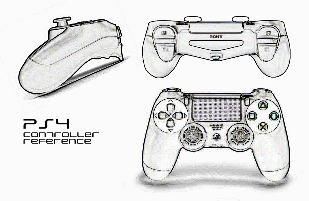 D Line Drawings Xbox : Ps controller refence by twitte king on deviantart