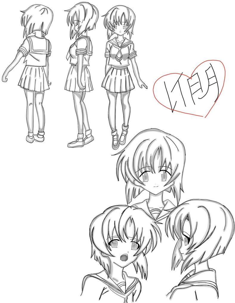 R O D Anime Characters : Rena ryuuguu s character design by g u r o on deviantart