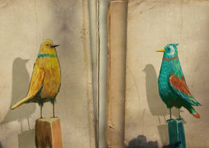 Paper pile blank copy birds copy