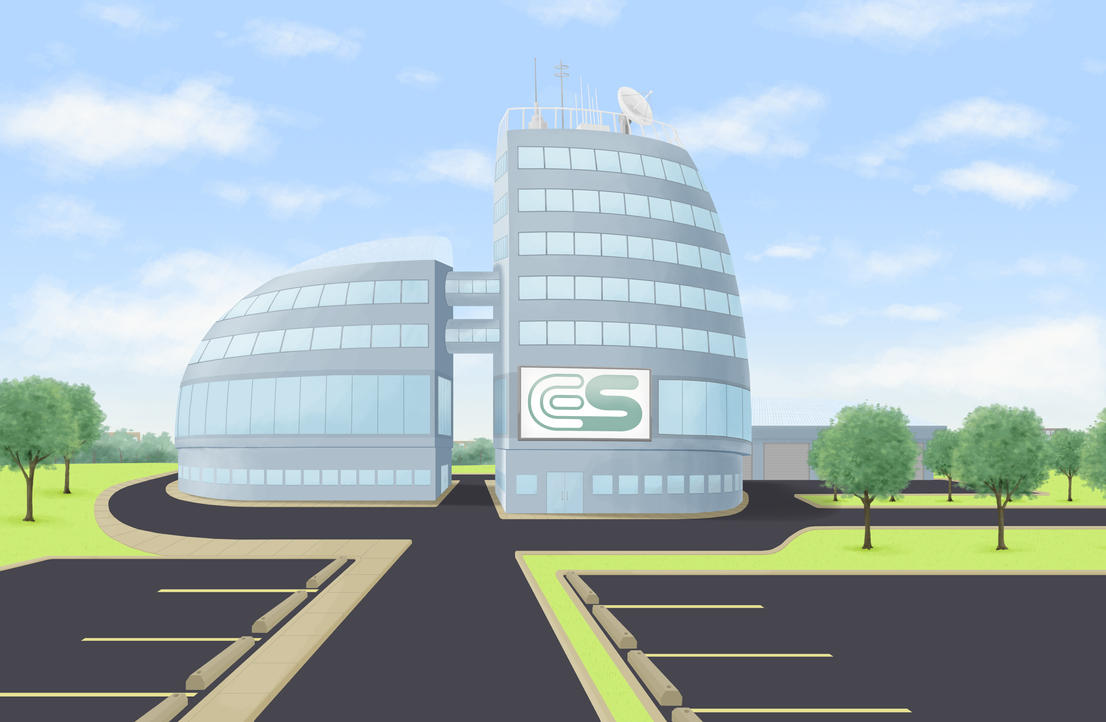 Animation background science lab exterior by nickagneta for Exterior background