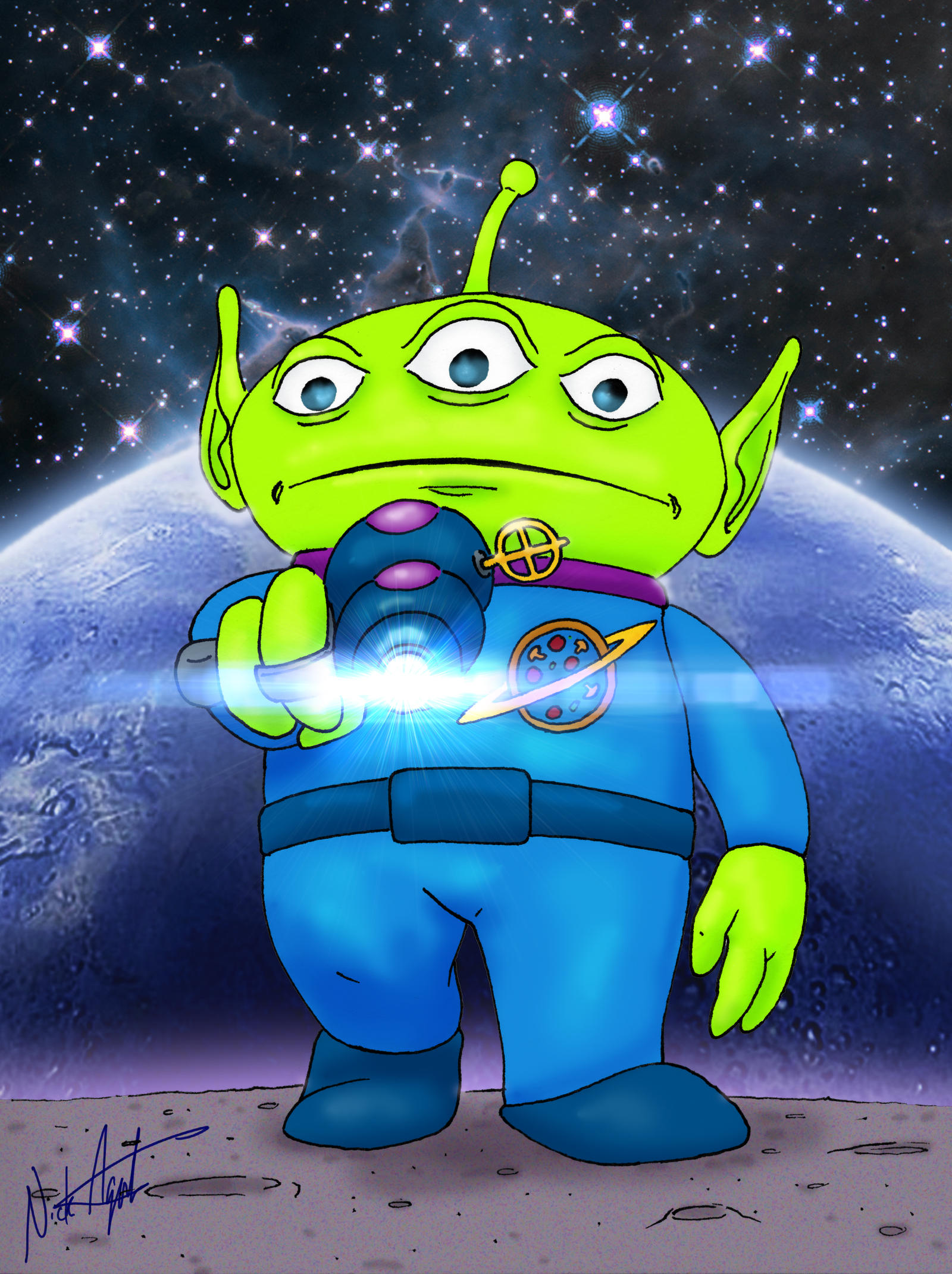 Toy Story Alien By Nickagneta