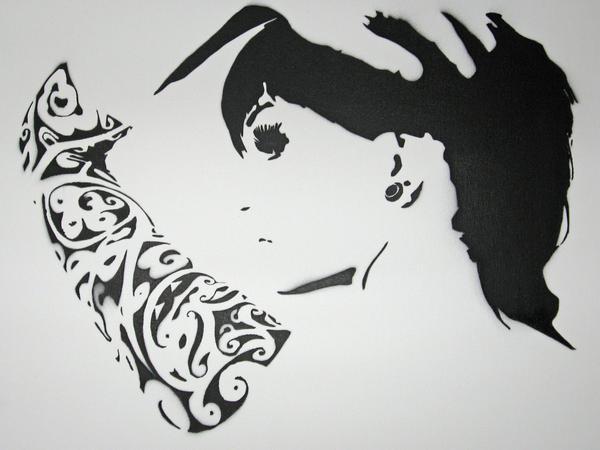 Stencil indoors