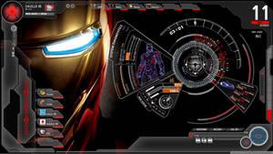 Ironman + S.H.I.E.L.D rainmeter