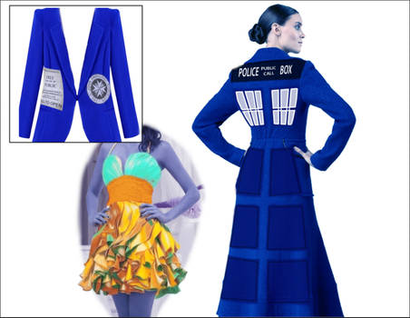 Tardis coat/interior dress