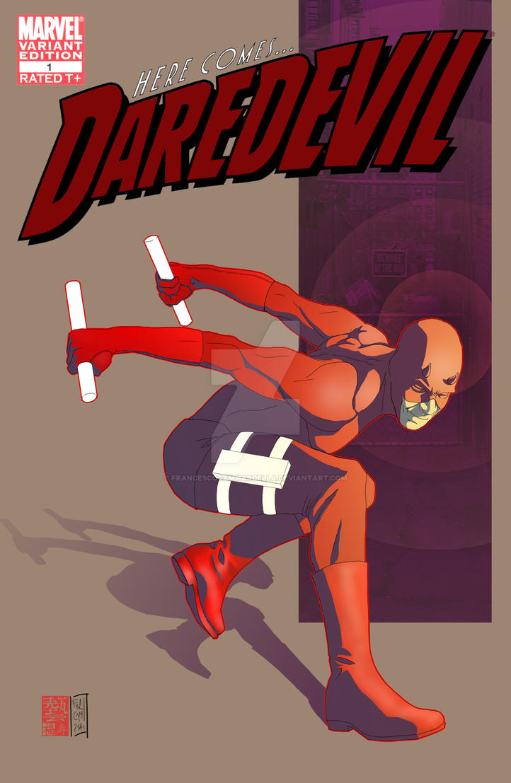 Fake Daredevil cover by Sassophiliaco