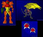 Fan Art Compilation - David Quicksilver by MetroidDatabase