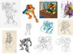 Fan Art Compilation - Gonmon 2 by MetroidDatabase