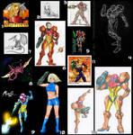 Fan Art Compilation - Multiple Artists 4 by MetroidDatabase