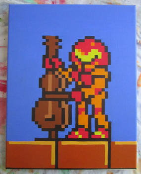 Samus plays the Cello from NES Tetris