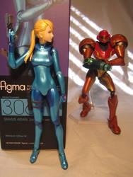 Zero Suit Samus Figma - SA-X Approaches