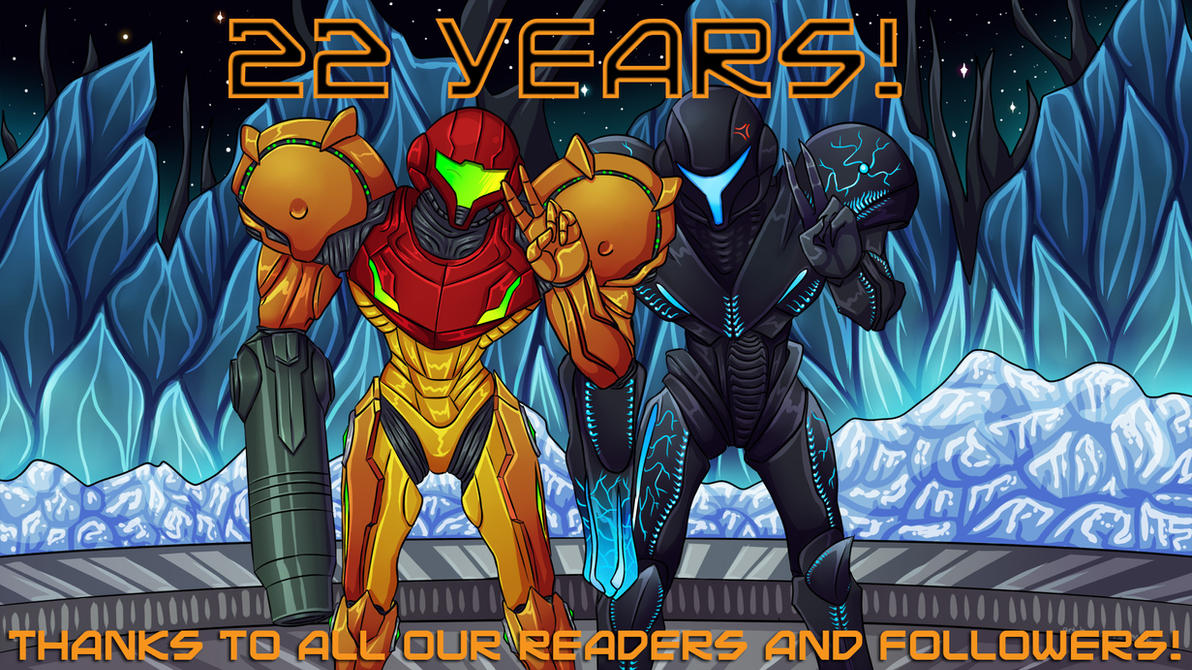 22nd Anniversary Banner by Cryophase by MetroidDatabase