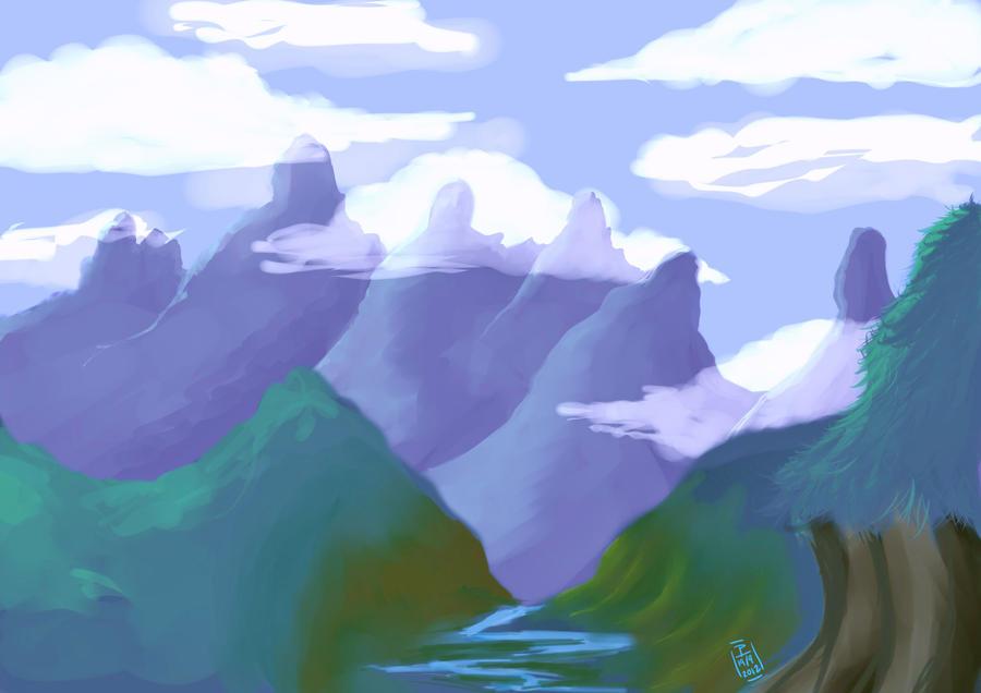 Valley heights by supahappysunshine