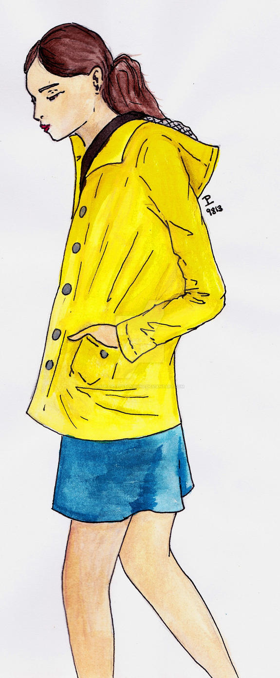 The Yellow Coat by supahappysunshine