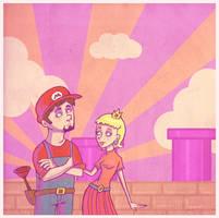 Mid 20s Mario by HapyCow