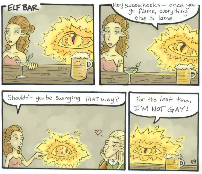 Sauron Walks into a Bar.. by HapyCow on DeviantArt