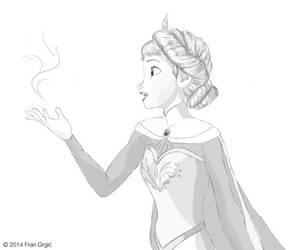 Elsa Frozen sketch by FranGrgic