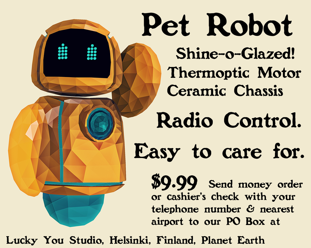 Kumoon Pet Robot by stormis