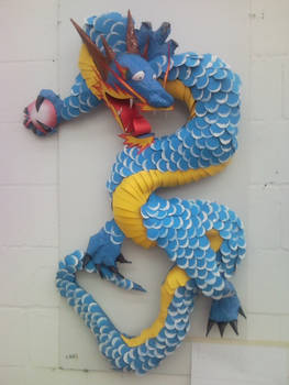 Blue Dragon - sculpture