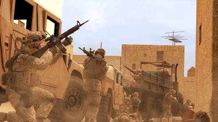Marines encounter resistance by gtanoofa