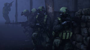 raiding a compound