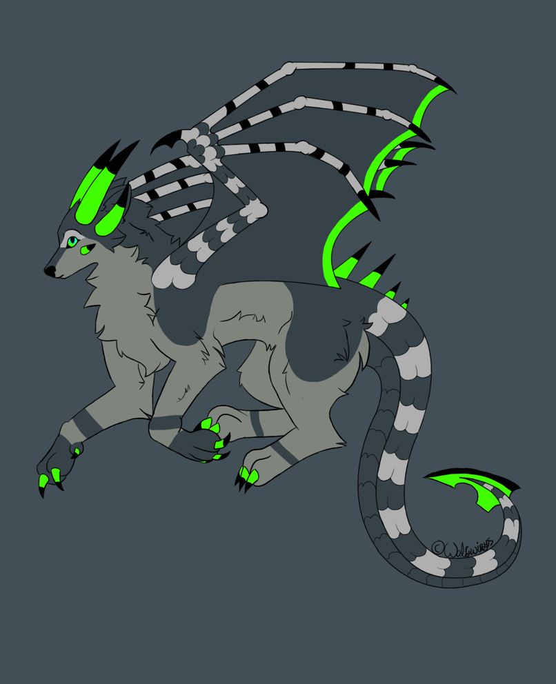 Art trade Fox Dragon by wolfywings
