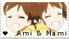 F2U - Ami and Mami - The Idolmaster - Stamp by vvhiskers