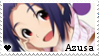 F2U - Azusa - The Idolmaster - Stamp by vvhiskers