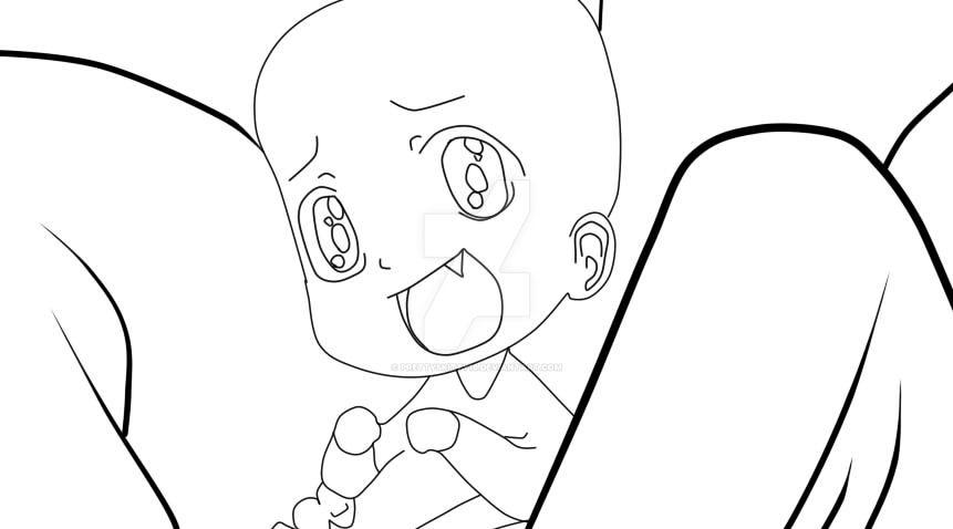 ::Cute Base 1:: Papa and Baby by PrettySkitty16