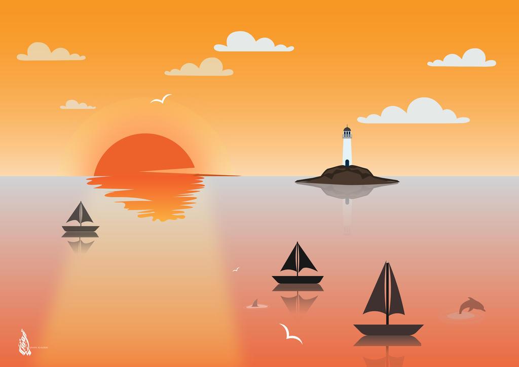 sunset view by USAMENG