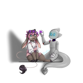 Anya and Artemis by CosmicFrenchFries